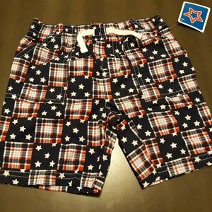 Other - Baby red, white, and blue plaid/stars shorts